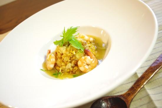 海老と水菜のあんかけチャーハン