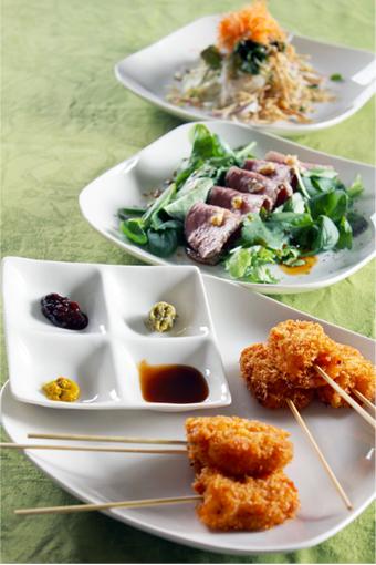 【写真】大皿盛りは、取りやすく!食べやすく!