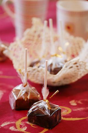 ロリポップチョコ型ショコラショーきちんとレシピフードソムリエ