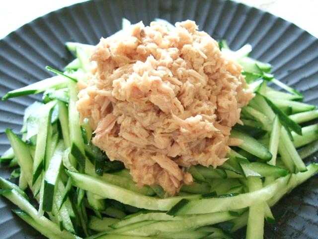 【缶詰レシピ】ツナときゅうりのサラダ|きちんとレシピ|フードソムリエ
