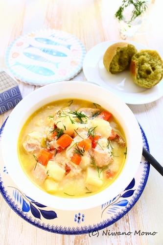 鮭とじゃがいもの北欧風スープ「ロヒケイット(Lohikeitto)」