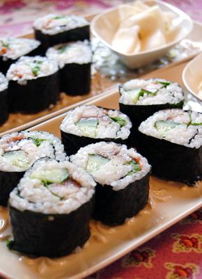 【料理写真】今日は「しめ鯖の巻き寿司」