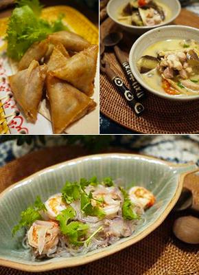 【料理写真】今日は、タイ料理。 ・揚げミンチ春巻き ・ナスとタケノコ 鶏肉のグリーンカレー ・タイ風サラダ