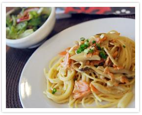 【料理写真】桜海老を使ったパスタ