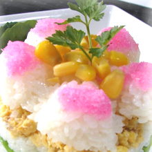 カラフル祝い寿司