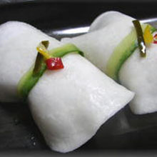 千枚漬けのにぎり寿司