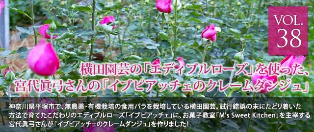 vol.38 横田園芸の横田さんのエディブルローズでつくった、料理家 宮代眞弓さんの イブピアッチェのクレームダンジュ