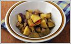 【写真】サツマイモのカレー煮込み(グリーン)