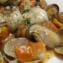 旬の牡蠣でアクアパッツァ