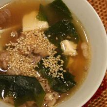韓国風ワカメスープ