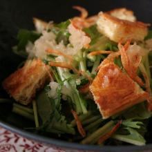 生姜ドレッシングの和風サラダ
