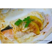 秋鮭の山芋焼き