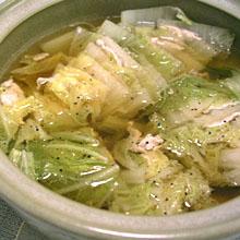 白菜と豚肉の黒胡椒鍋