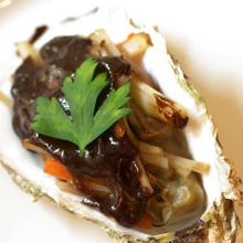 牡蠣のグリル バルサミコ酢ソース