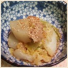 白菜と大根、豚バラ肉のにんにく味噌