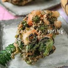 菜の花の春色掻き揚げ
