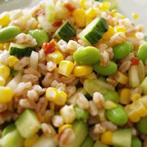 スペルト小麦の夏野菜サラダ