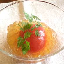 まるごとトマトのジュレサラダ