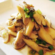 きのこと筍と鶏ささみのポン酢ソテー