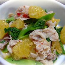 豚バラ肉&菜の花のエスニックサラダ