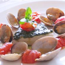 鱈のワイン蒸しイタリアン仕立て