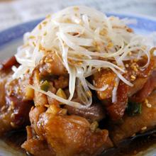 鶏もも肉の梅味噌蒸し