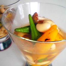 オクラと大豆の三杯酢