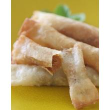 バナナとピーナッツバターの餅入り春巻き