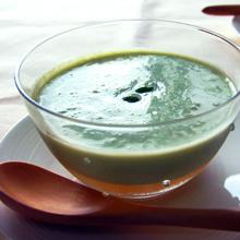 枝豆の冷製スープ*コンソメジュレ