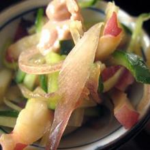 タコと香味野菜の梅風味