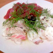 シチリア風鮮魚の盛り合わせ