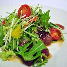カツオと水菜のサラダ