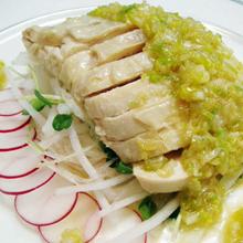 蒸鶏と大根のシャキシャキサラダ
