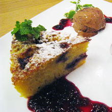 ブルーベリークリームチーズケーキ