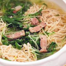 干し豆腐と水菜炒め煮