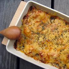 里芋とチキンの豆乳グラタン