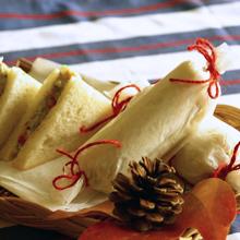 里芋のキャンディーラップサンドイッチ