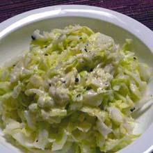 チーズ好きのコールスローサラダ