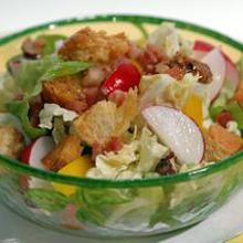 白菜のホットドレッシングサラダ