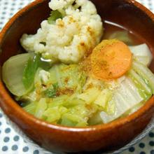 春色のお野菜たっぷりスープ