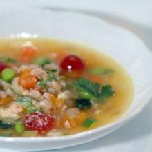 ミニ野菜と雑穀のミネストローネ