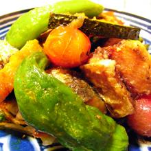 イワシと野菜のカレーマリネ