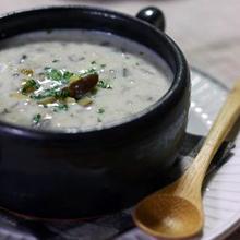 きのこと栗のクリームスープ