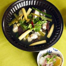 鯛のスープかけごはん アジア風