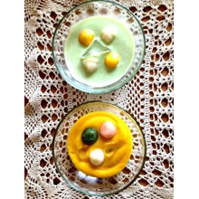 やさい冷やし汁粉(かぼちゃ&枝豆)