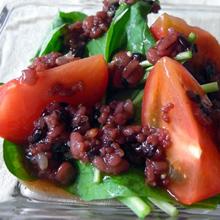 ルッコラとトマトの雑穀ドレッシング