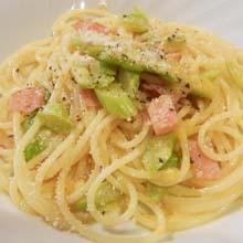 Spaghetti con gli asparagi~アスパラガスソースのスパゲッティ~
