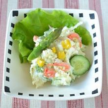桜えびと春野菜のポテトサラダ