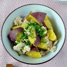 さつま芋と鶏挽肉の生姜煮