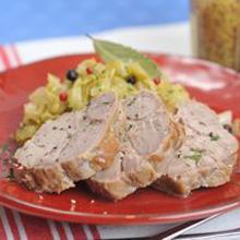 豚肉とキャベツの煮込み シュークルート風